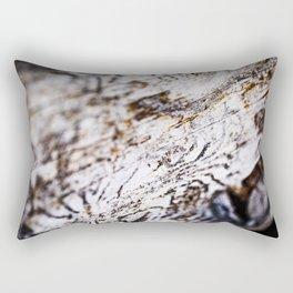White Birch Wood Bark Natural TexturePattern Rectangular Pillow