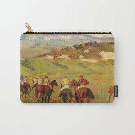 Edgar Degas - Jockeys On Horseback Before Distant Hills Carry-All Pouch