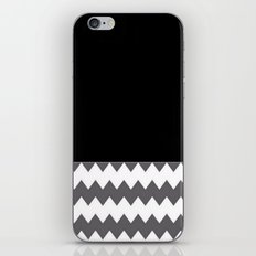Chevron Gray Black And White - Glamour iPhone & iPod Skin