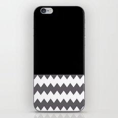 Chevron Gray Black And White - Glamour iPhone & iPod Skin