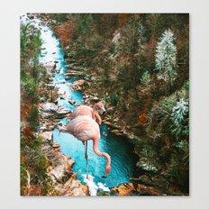 Flamingo Forest #society6 #decor #buyart Canvas Print