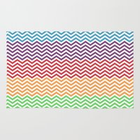 gumball Area & Throw Rugs featuring Gumball Chevron by Wicked Cool Studio
