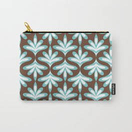 Minimal Lotus Flower Pattern Carry-All Pouch