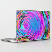 60s Laptop & iPad Skins featuring Psychedelic 60s by Alice Gosling