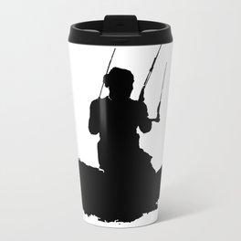 Wakeboarder Kitesurfing Silhouette Travel Mug