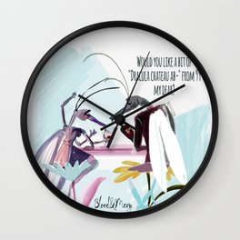 Love: Mosquito Rules Wall Clock