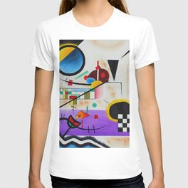 1924 Classical Masterpiece 'Contrasting Sounds' by Wassily Kandinsky T-shirt