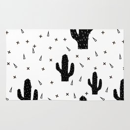 Cactuses abstract modern print simple Rug