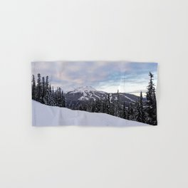 Mountains behind the trees Hand & Bath Towel