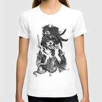 skull T-shirts featuring Chicana by Rudy Faber