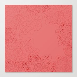 Salmon Flowers Canvas Print
