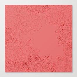 Salmon Flowers Canvas Print