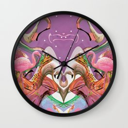FLAMINGO ACID TRIP  Wall Clock