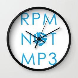 RPM NOT MP3 - Blue Wall Clock
