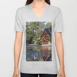 Peaceful Pagoda Unisex V-Neck