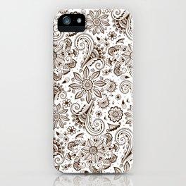 Mehndi or Henna Flowers iPhone Case