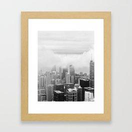 Black and White Chicago Illinois Framed Art Print