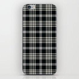Black Plaid iPhone Skin