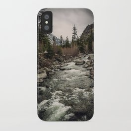 Winter Begins - River Mountain Nature Photography iPhone Case