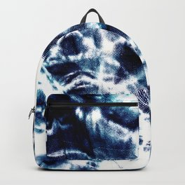Tie Dye Sunburst Blue Backpack
