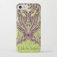 predator iPhone & iPod Cases featuring predator by alex leeman