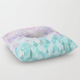 Mermaid Pastel Iridescent Floor Pillow
