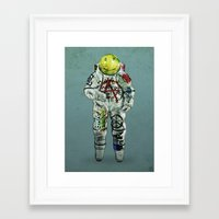 shadow of the colossus Framed Art Prints featuring colossus by Seamless