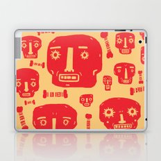 Skulls & Bones - Red/Yellow Laptop & iPad Skin