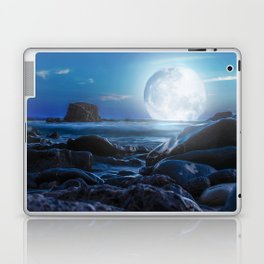 Relaxing with the moon Laptop & iPad Skin