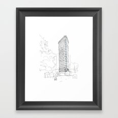 Flat Iron Building Framed Art Print