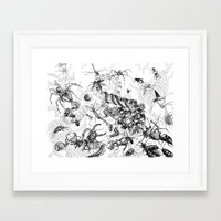 insects Framed Art Prints featuring Insects by Emile Denis