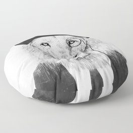 Sir lion Floor Pillow