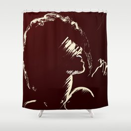 Melodious Imprints Shower Curtain