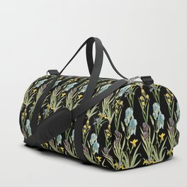 Vintage Floral Pattern | No. 2A | Iris Flowers | Irises Duffle Bag