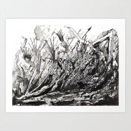 diagonal boom Art Print