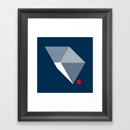 V like V Framed Art Print
