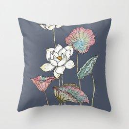 Lotus Symphony Throw Pillow