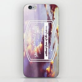 Strength & dignity  iPhone Skin