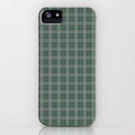 Christmas Evergreen Pine Garland Tartan Plaid Check iPhone Case