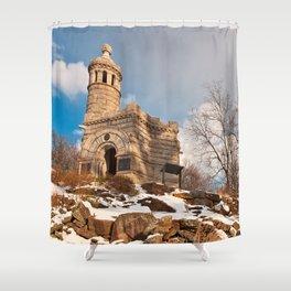 Winter Gettysburg Castle Shower Curtain