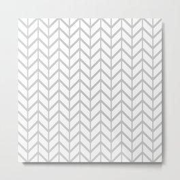 Winter 2018 Color: Gasp Gray in Chevron Metal Print