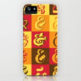 Ampersands iPhone Case
