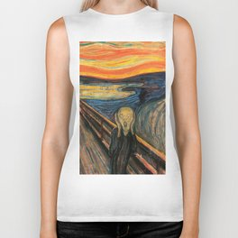 "Edvard Munch, "" The Scream "" Biker Tank"