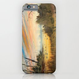 Evening Duck Hunters iPhone Case