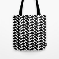 crow Tote Bags featuring Crow by Emmanuelle Ly