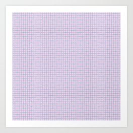 Pink, Purple & Blue Busy Tangled Lines Pattern Art Print