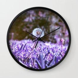 Blowball in Purple Wall Clock