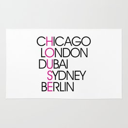 Worldwide House EDM Quote Rug