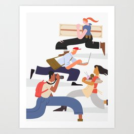 Busy Creatives Art Print