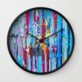 Polychromous, brilliant abstract art. Wall Clock